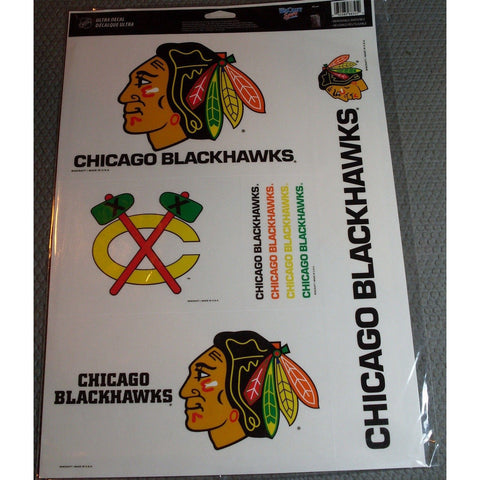 NHL Chicago Blackhawks Ultra Decals Set of 5 By WINCRAFT White