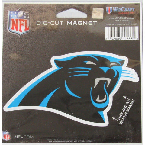 NFL Carolina Panthers Logo 4 inch Auto Magnet by WinCraft