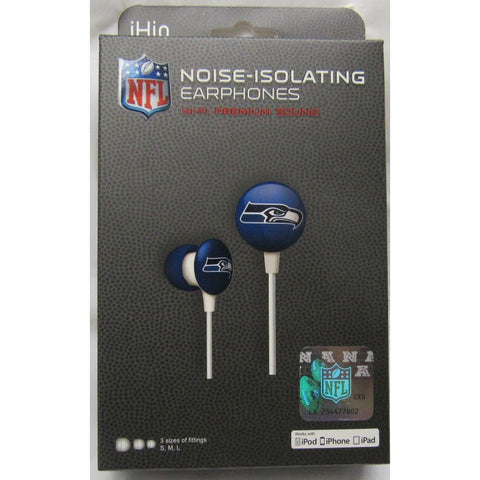 NFL iHip Team Logo Earphones Seattle Seahawks