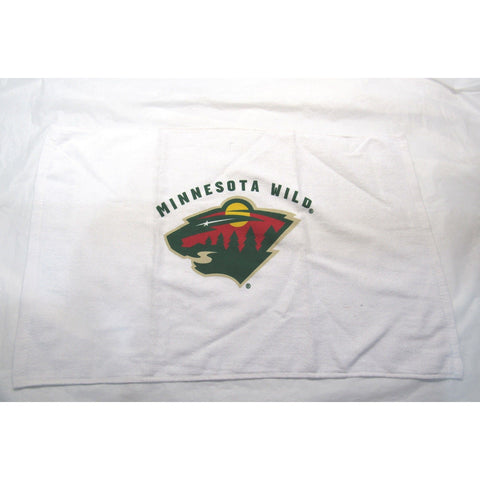 NHL NWT 15x25 SPORTS FAN TOWEL- MINNESOTA WILD - WHITE LOGO CENTER