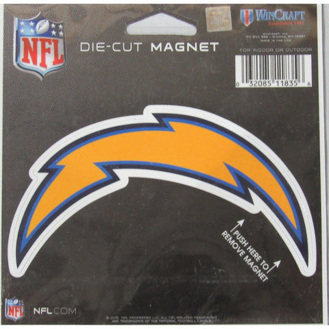 NFL San Diego Chargers Logo 4 inch Auto Magnet by WinCraft