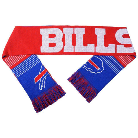 "NFL 2015 Reversible Split Logo Scarf Buffalo Bills 64"" by 7"" FOCO"