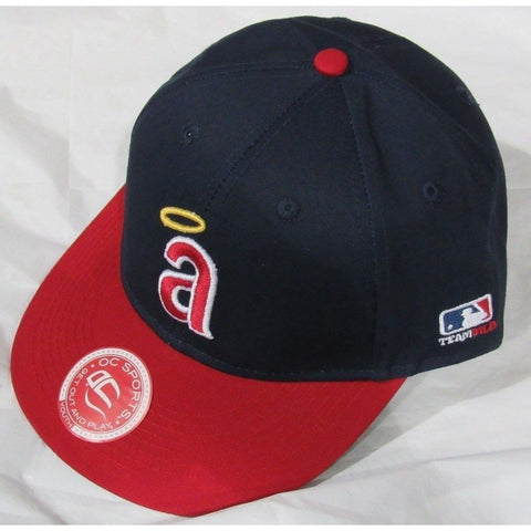 MLB LA Angels of Anaheim Youth Cap Cooperstown Raised Replica Cotton Twill Hat