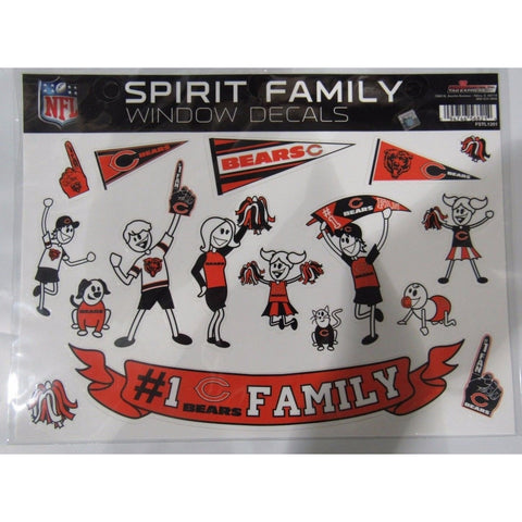NFL Chicago Bears Spirit Family Decals Set of 17 by Rico Industries