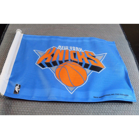 NBA New York Knicks Logo on Window Car Flag by Rico Industries