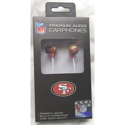 NFL iHip Team Logo Earphones with Microphone San Francisco 49ers