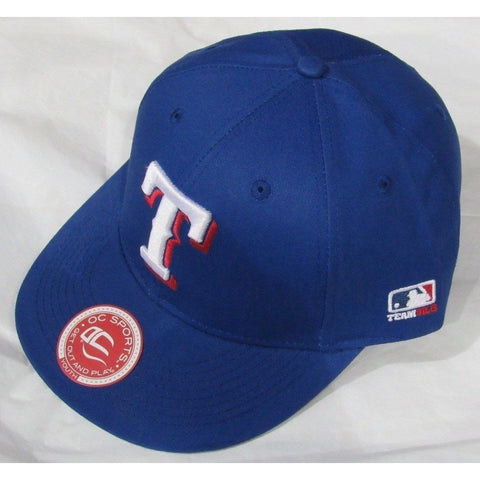 MLB Texas Rangers Youth Cap Flat Brim Raised Replica Cotton Twill Hat