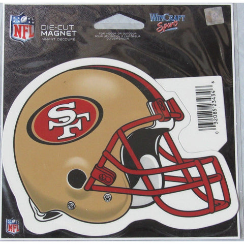 NFL San Francisco 49ers Helmet Red Mask 4 inch Auto Magnet by WinCraft