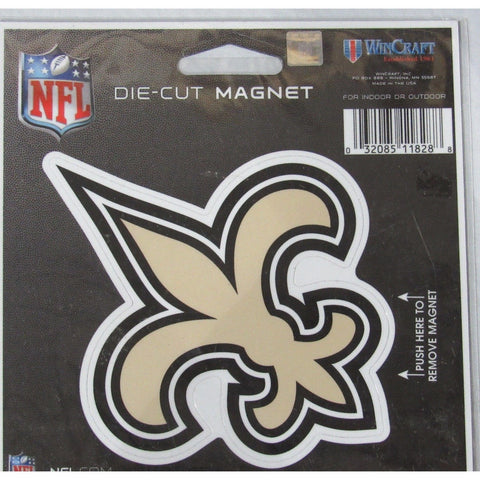 NFL New Orleans Saints Logo 4 inch Auto Magnet by WinCraft