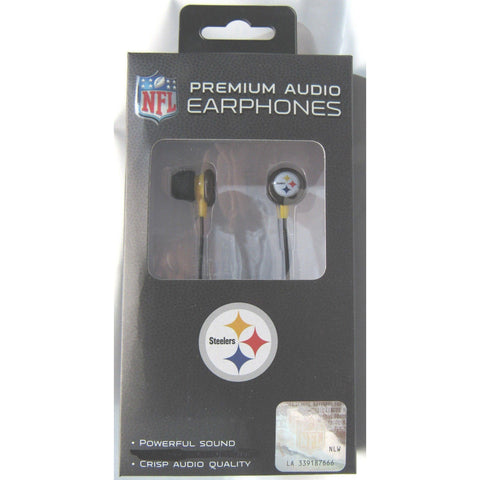 NFL iHip Team Logo Earphones Pittsburgh Steelers