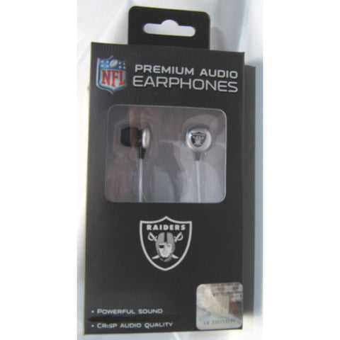 NFL iHip Team Logo Earphones Oakland Raiders
