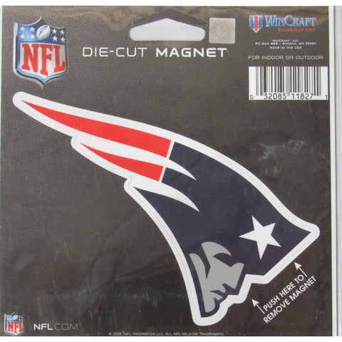 NFL New England Patriot Logo 4 inch Auto Magnet by WinCraft