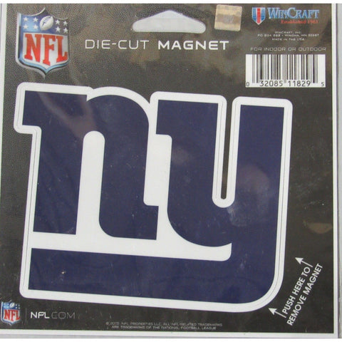 NFL New York Giants Logo 4 inch Auto Magnet by WinCraft