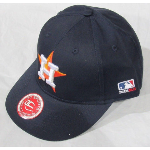 MLB Houston Astros Youth Cap Flat Brim Raised Replica Cotton Twill Hat