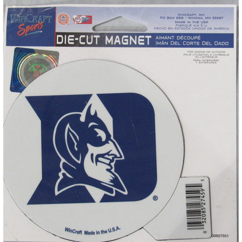 NCAA Duke Blue Devils Round 4 inch Auto Magnet by WinCraft