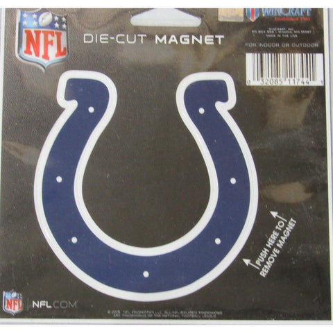NFL Indianapolis Colts Logo 4 inch Auto Magnet by WinCraft