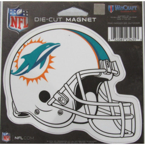NFL Miami Dolphins Current Logo Helmet 4 inch Auto Magnet by WinCraft
