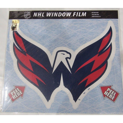 "NHL Washington Capitals Die-Cut Window Film Approx. 12"" by Fremont Die"