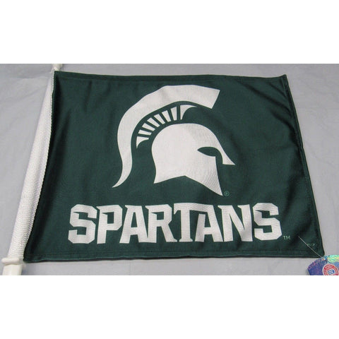 NCAA Michigan State Spartans Logo on Window Car Flag by Fremont Die