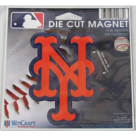 MLB New York Mets NY Logo 4 inch Auto Magnet by WinCraft