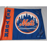 MLB Logo New York Mets Right Window Car Flag RICO or Fremont Die