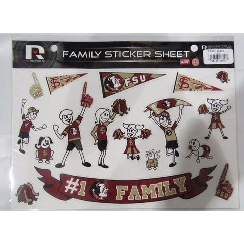 NCAA Florida State Seminoles Spirit Family Decals Set of 17 by Rico Industries