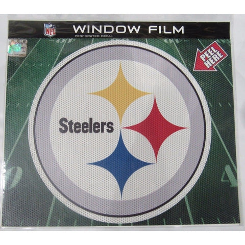 "NFL Pittsburgh Steelers Die-Cut Window Film Approx. 12"" by Fremont Die"