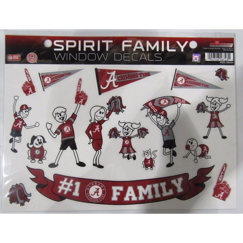 NCAA Alabama Crimson Tide Spirit Family Decals Set of 17 by Rico Industries