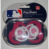 MLB New York Mets Pink Pacifiers Set of 2 w/ Solid Shield in Case