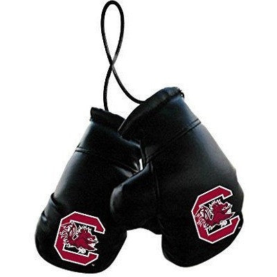 "NCAA 4"" REARVIEW MIRROR MINI BOXING GLOVES SOUTH CAROLINA GAMECOCKS"