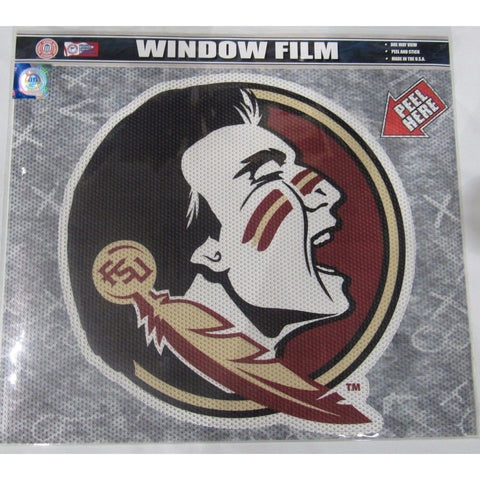 "NCAA Florida State Seminoles Die-Cut Window Film Approx. 12"" by Fremont Die"