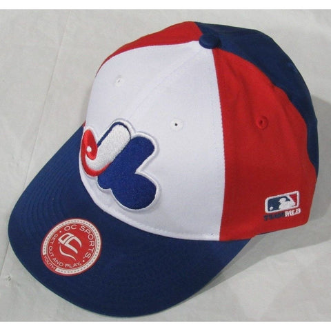 MLB Montreal Expos Youth Cap Cooperstown Raised Replica Cotton Twill Hat