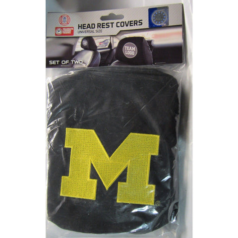 NCAA Michigan Wolverines Headrest Cover Embroidered Logo Set of 2 by Team ProMark