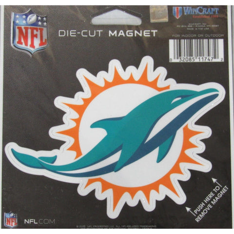 NFL Miami Dolphins Logo 4 inch Auto Magnet by WinCraft
