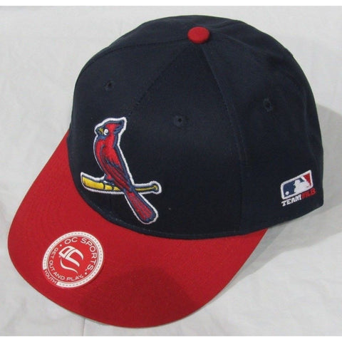 MLB St. Louis Cardinals Youth Cap Flat Brim Raised Replica Cotton Twill Hat