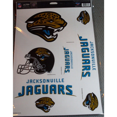NFL Jacksonville Jaguars Ultra Decals Set of 5 By WINCRAFT
