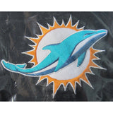 NFL Miami Dolphins Headrest Cover Embroidered Logo Set of 2 by Team ProMark