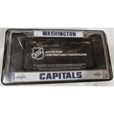 NHL Washington Capitals Chrome License Plate Frame Thick Letters