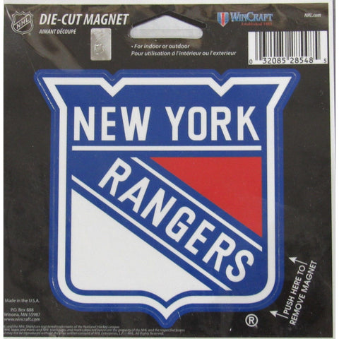 NHL New York Rangers Current Logo 4 inch Auto Magnet by WinCraft