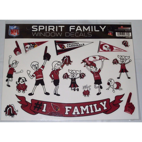 NFL Arizona Cardinals Spirit Family Decals Set of 17 by Rico Industries