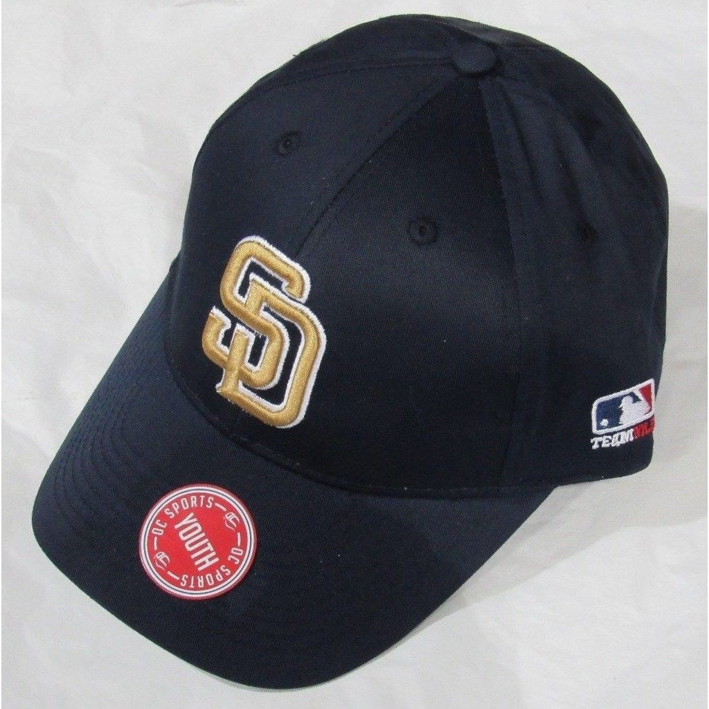 e8088fd8608 MLB San Diego Padres Youth Cap Curved Brim Raised Replica Cotton Twill –  All Sports-N-Jerseys