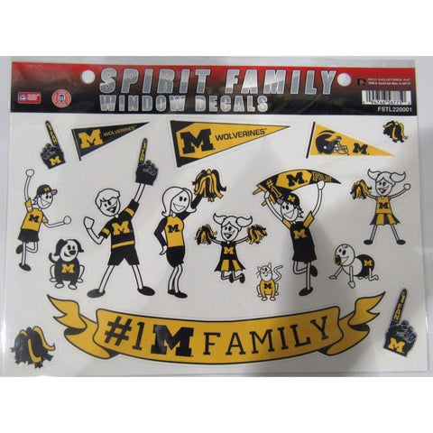 NCAA Michigan Wolverines Spirit Family Decals Set of 17 by Rico Industries