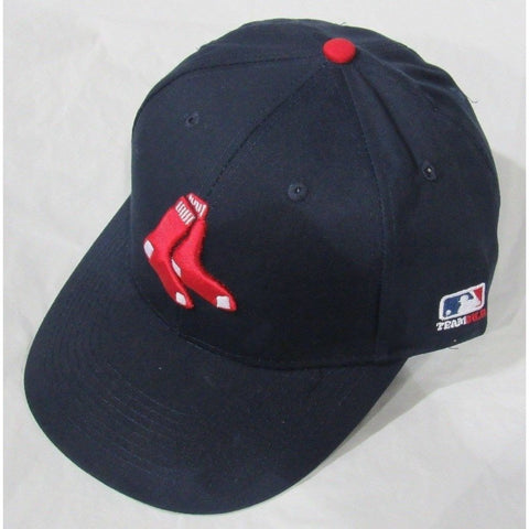 MLB Boston Red Sox Youth Cap Flat Brim Raised Replica Cotton Twill Hat