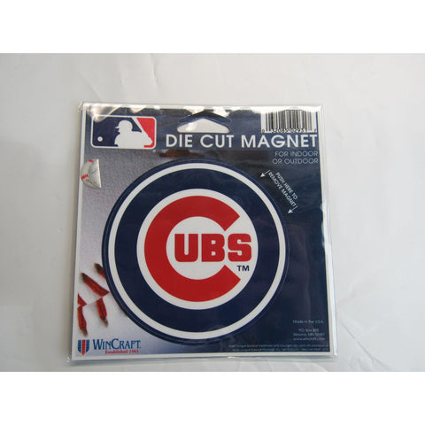 MLB Chicago Cubs Logo 4 inch Auto Magnet by WinCraft
