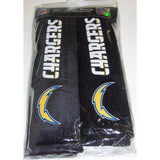 NFL San Diego Chargers Velour Seat Belt Pads 2 Pack by Fremont Die