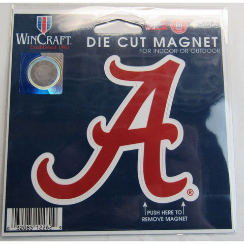 NCAA Alabama Crimson Tide Logo 4 inch Auto Magnet by WinCraft