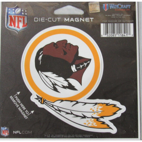 NFL Washington Redskins Logo 4 inch Auto Magnet by WinCraft