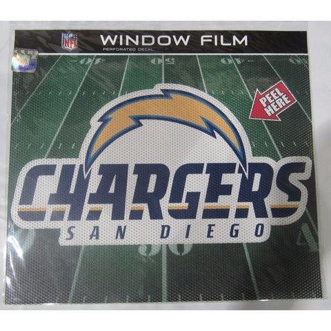 "NFL San Diego Chargers Die-Cut Window Film Approx. 12"" by Fremont Die"
