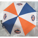 MLB Travel Umbrella New York Mets with 4 Logos 3 Colors Windcraft
