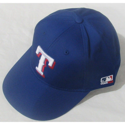 MLB Texas Rangers Adult Cap Flat Brim Raised Replica Cotton Twill Hat Blue